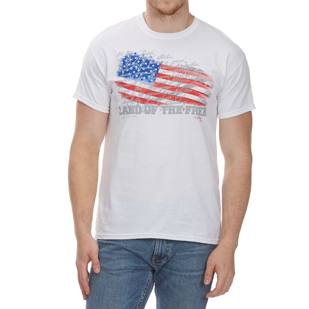 5STAR Guys' Constitution USA Flag Short-Sleeve Tee - WHITE