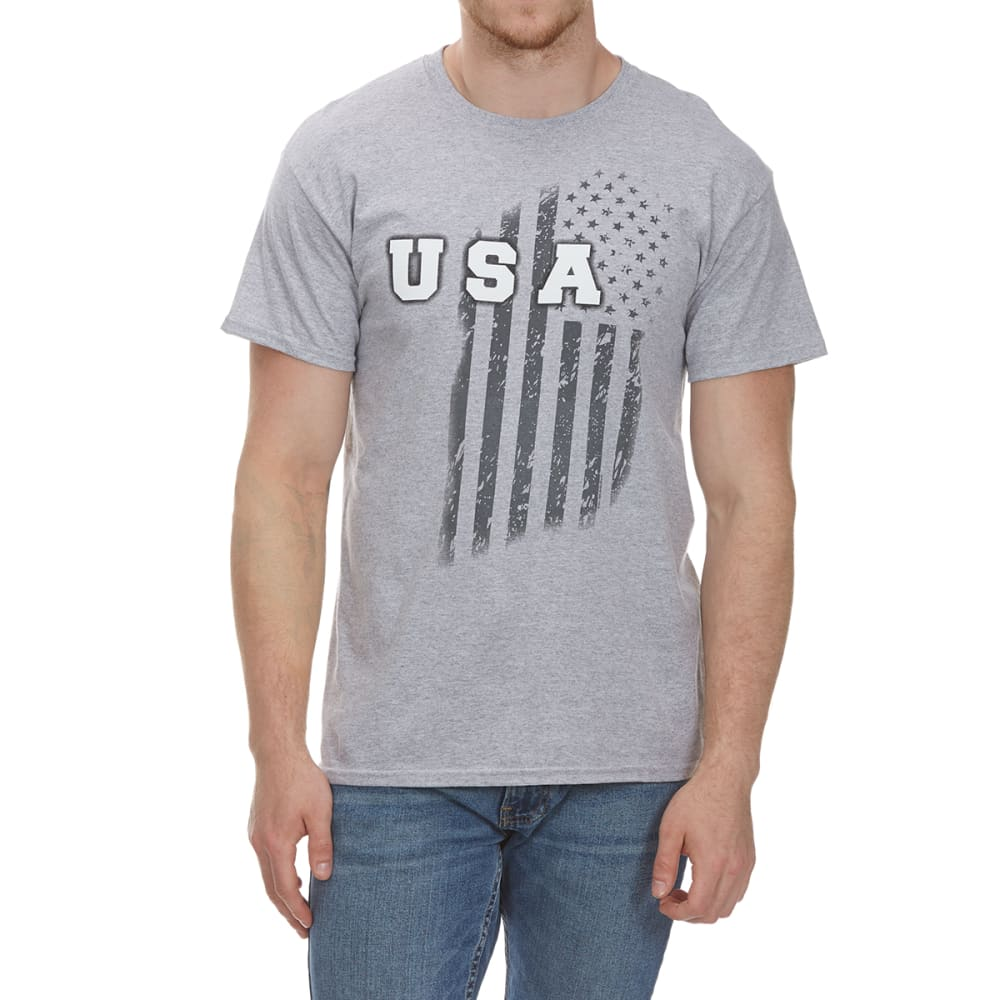 5STAR Guys' USA Vertical Short-Sleeve Tee - HTR GRY