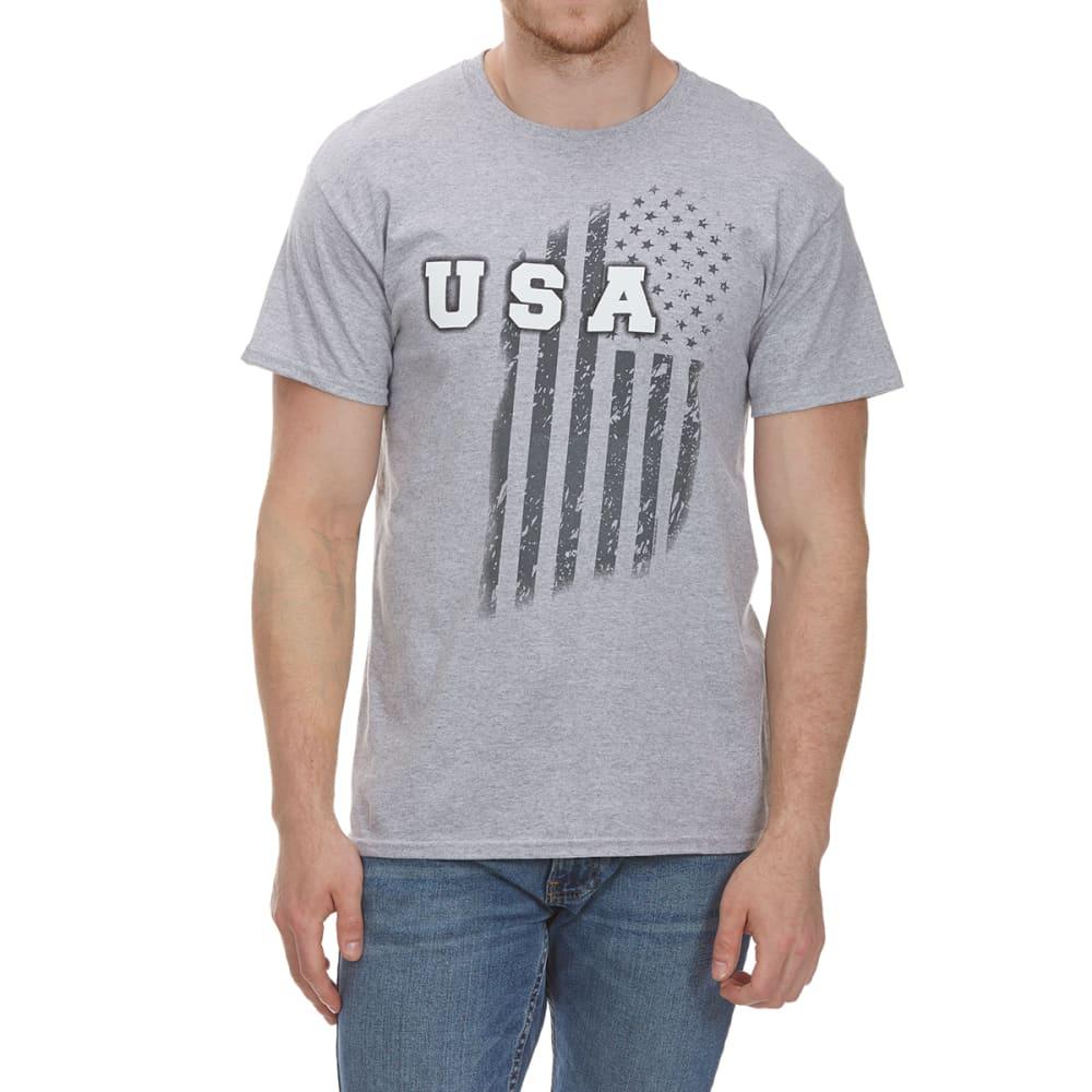 5STAR Guys' USA Vertical Short-Sleeve Tee - HTR GRY