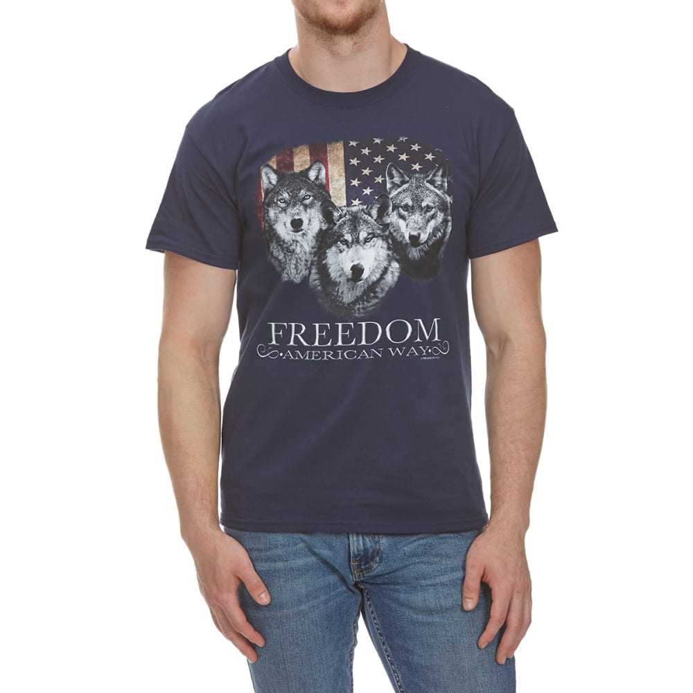 5STAR Guys' Freedom American Way Short-Sleeve Tee - NAVY