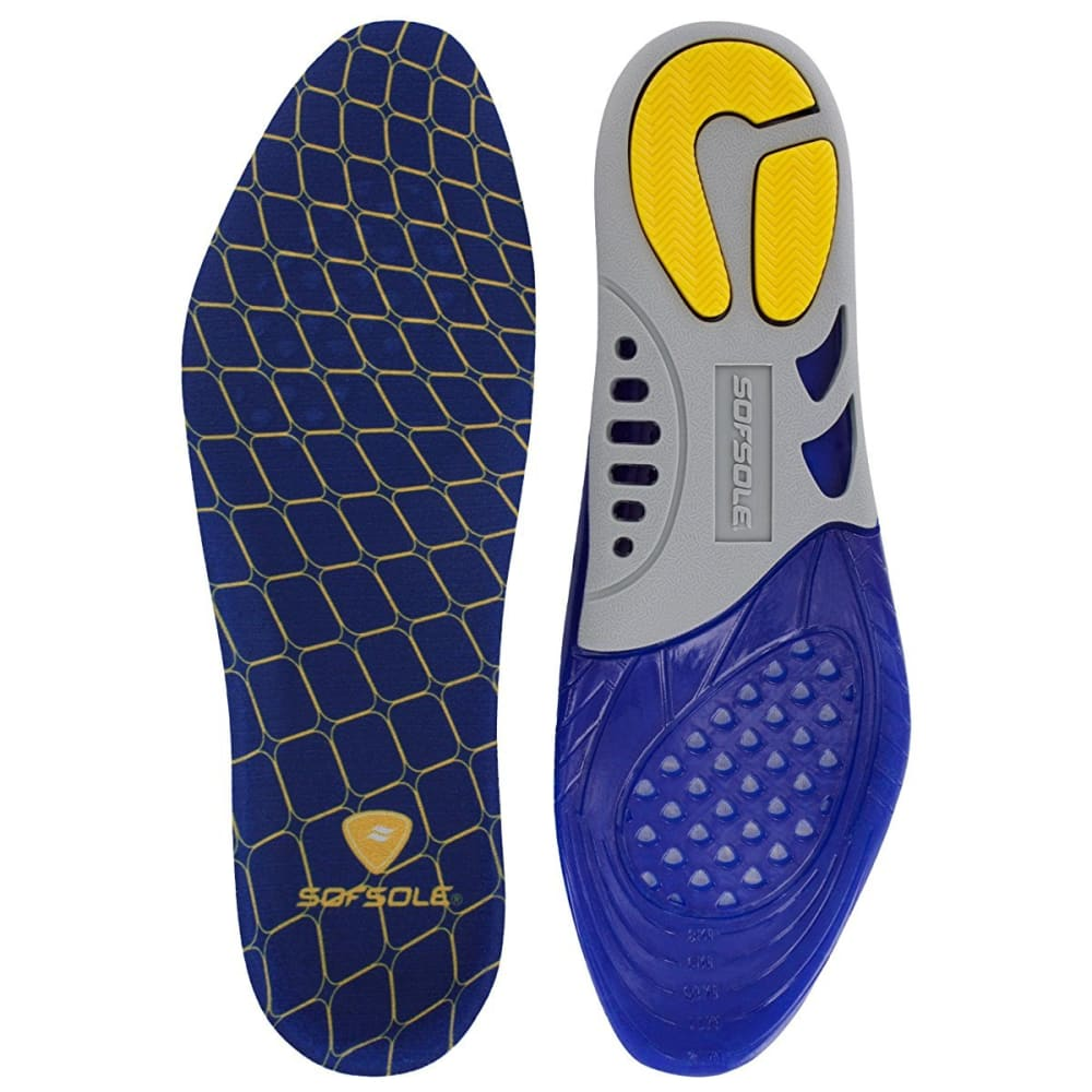 SOF SOLE Men's Massaging Gel Support Insoles - ASSORTED