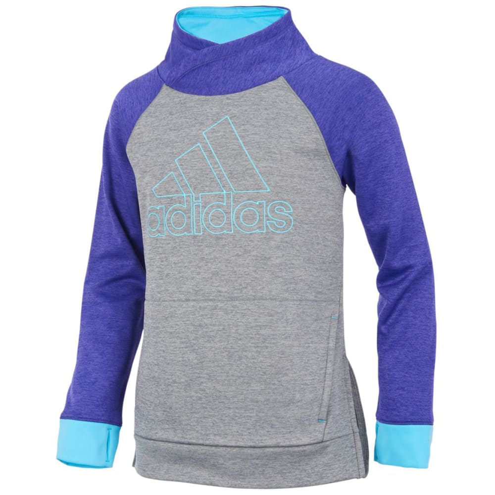 Adidas Big Girls Pull Me Over Long-Sleeve Sweatshirt - Purple, S