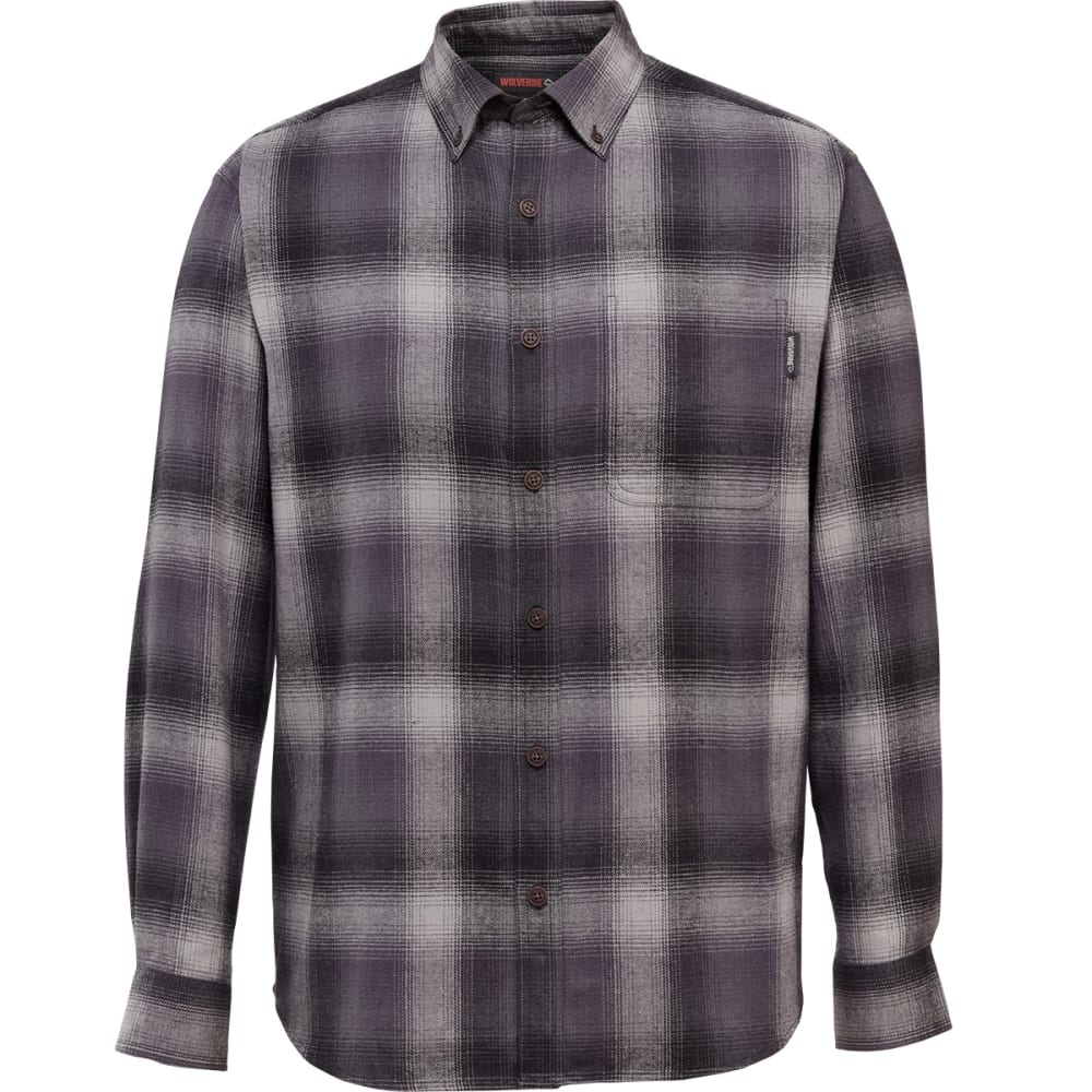 WOLVERINE Men's Hammond Long-Sleeve Flannel Shirt - 011 DUST PLAID