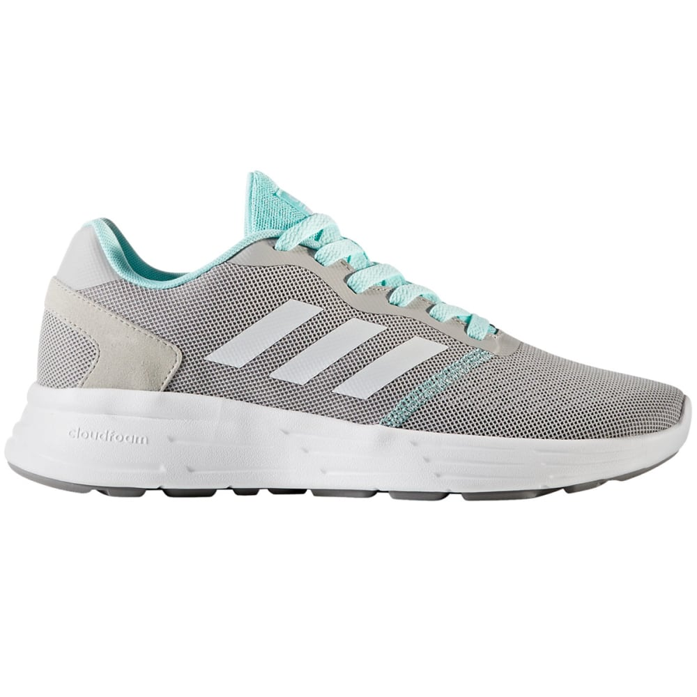 ADIDAS Women's Neo Cloudfoam Revolver Running Shoes, Grey/White/Aqua - GREY