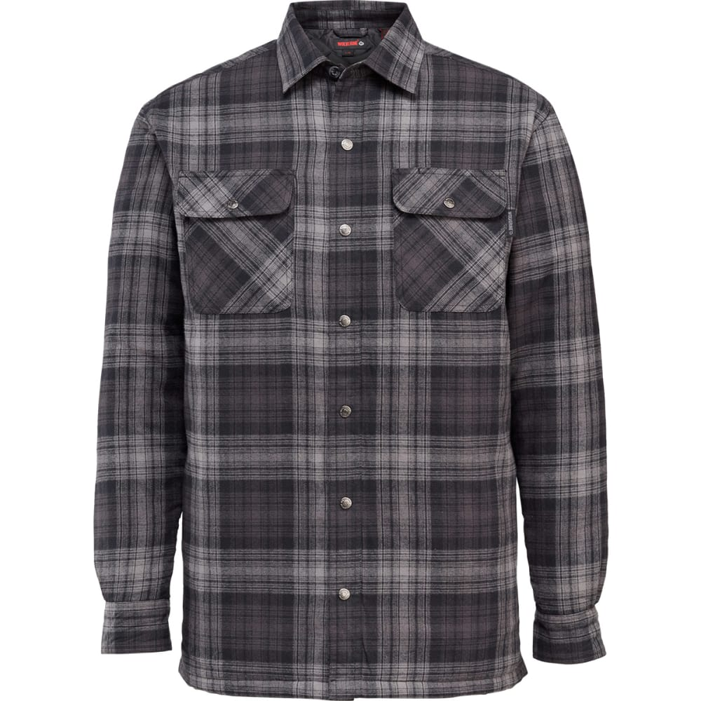 WOLVERINE Men's Forester Shirt Jacket - 020 GREY PLAID