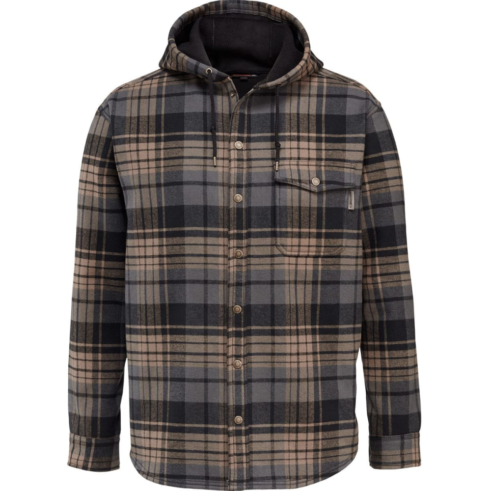 WOLVERINE Men's Bucksaw Bonded Shirt Jacket - 003 BLACK PLAID
