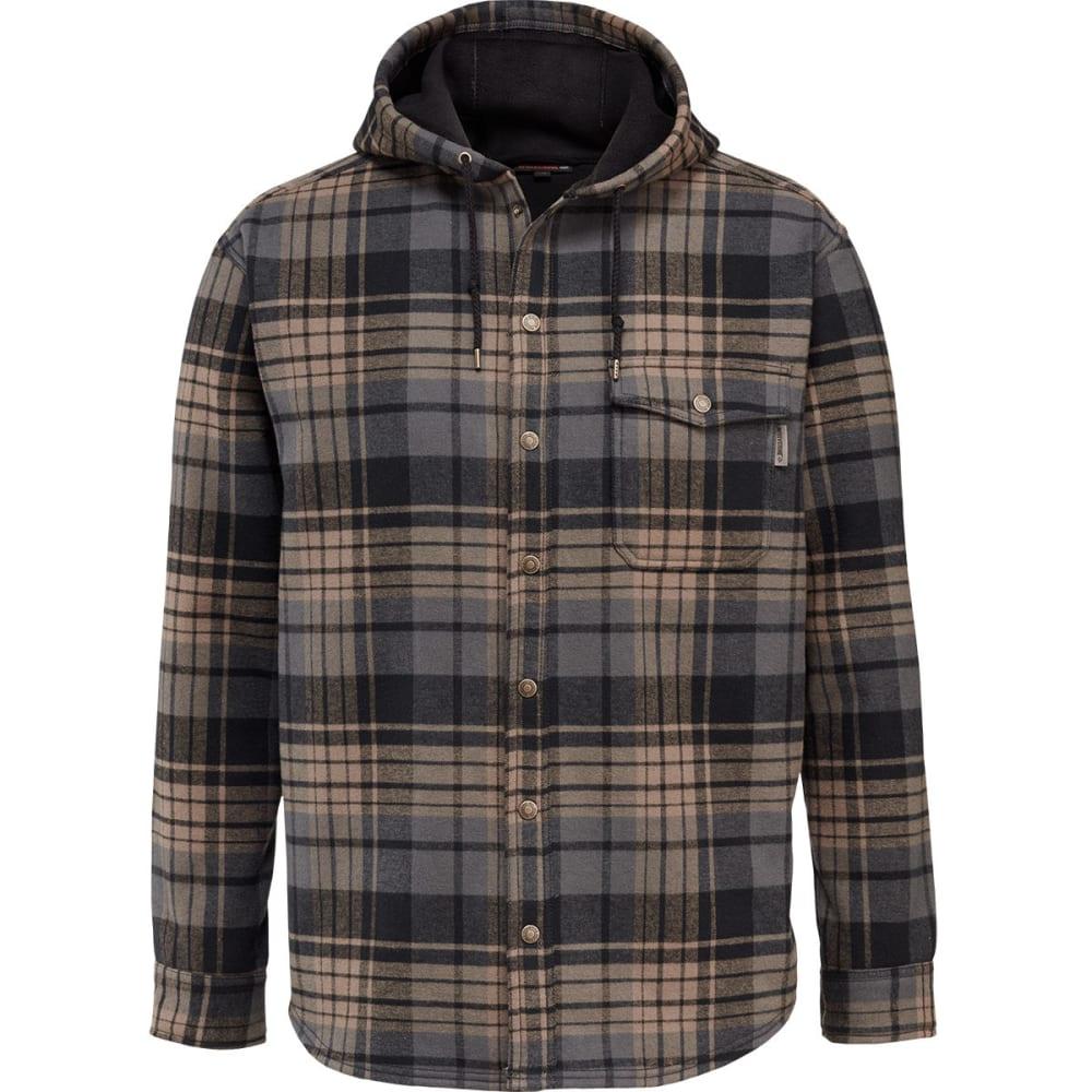 WOLVERINE Men's Bucksaw Bonded Shirt Jacket - 003 BLACK PLAID