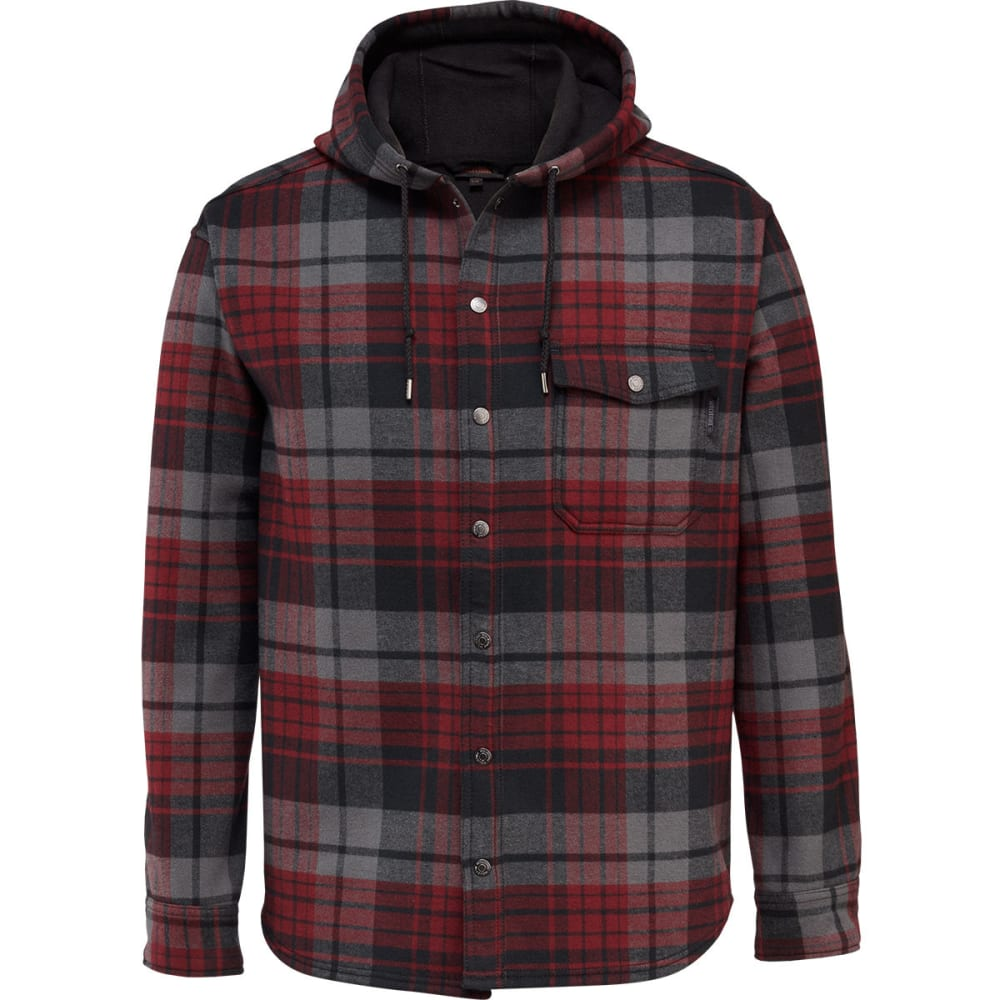 WOLVERINE Men's Bucksaw Bonded Shirt Jacket - 611 MAROON PLAID