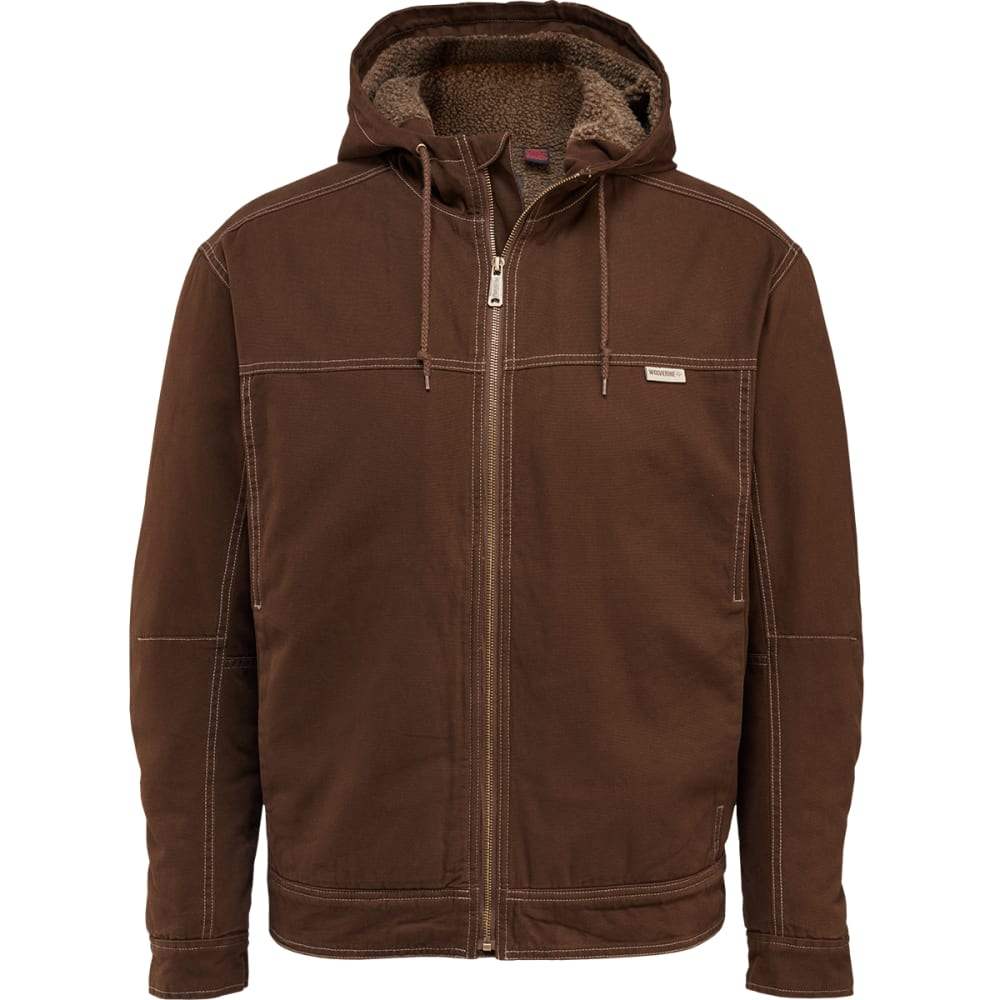 WOLVERINE Men's Porter Sherpa Hooded Jacket - 237 DK BISON