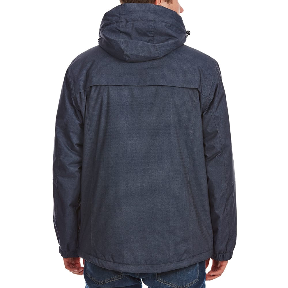 FREE COUNTRY Men's Midweight Fleece-Lined Jacket - DEEP CHAR