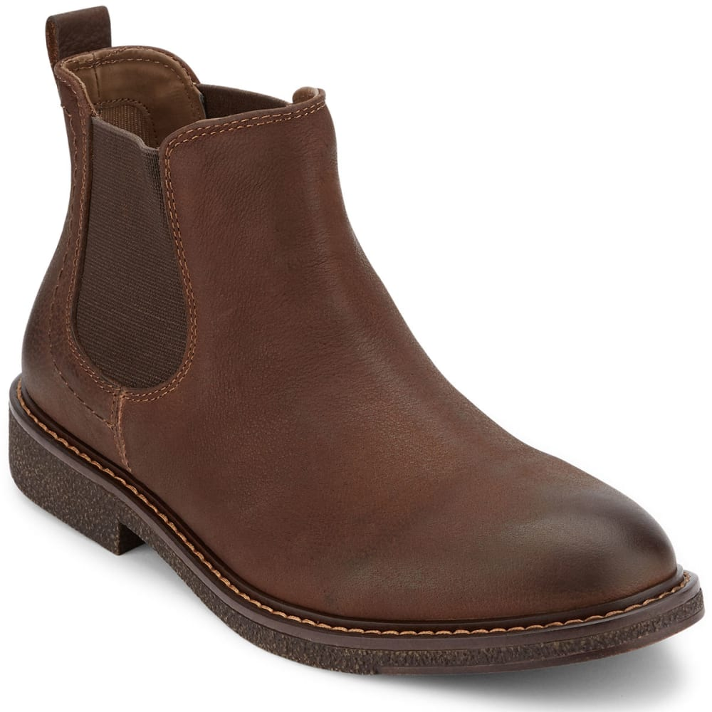 DOCKERS Men's Stanwell Chelsea Boots, Chocolate - CHOCOLATE