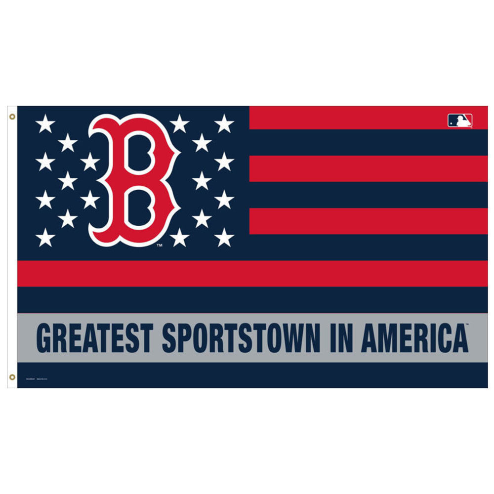 BOSTON RED SOX Greatest Sportstown in America Flag - RED WHITE AND BLUE