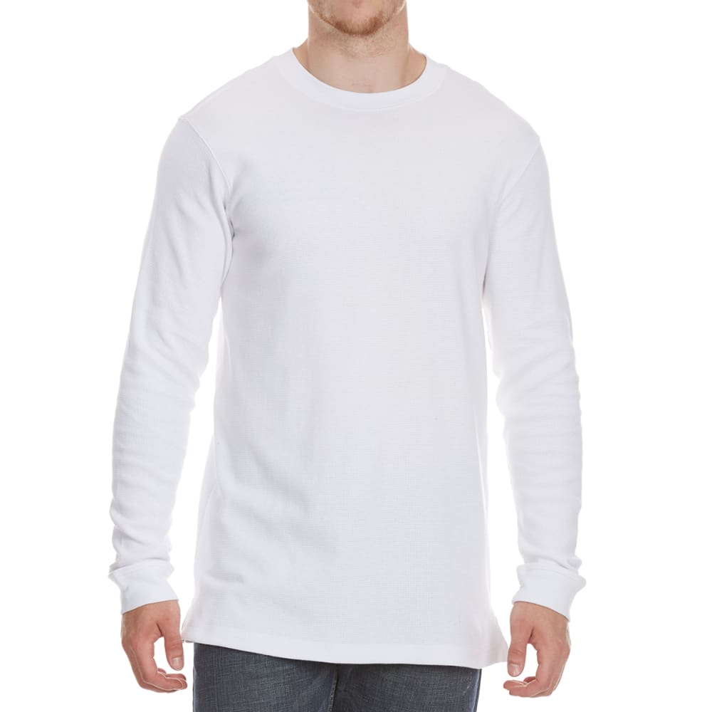 RUGGED TRAILS Men's Thermal Crewneck Long-Sleeve Shirt - WHITE