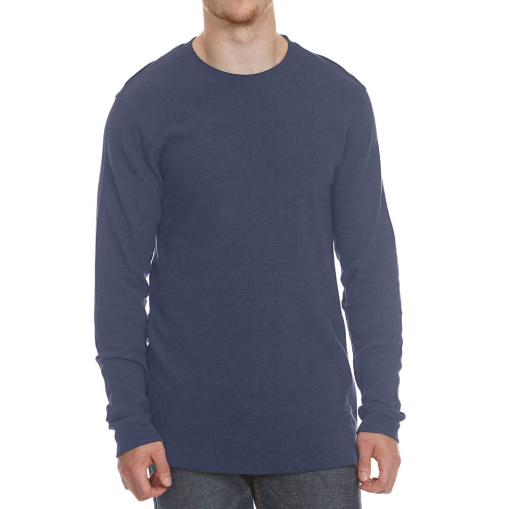 RUGGED TRAILS Men's Thermal Crewneck Long-Sleeve Shirt - COLONIAL BLUE