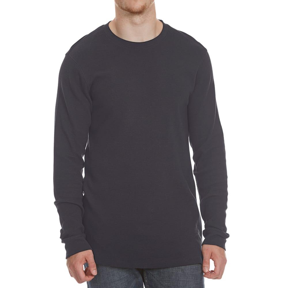 RUGGED TRAILS Men's Thermal Crewneck Long-Sleeve Shirt - NAVY