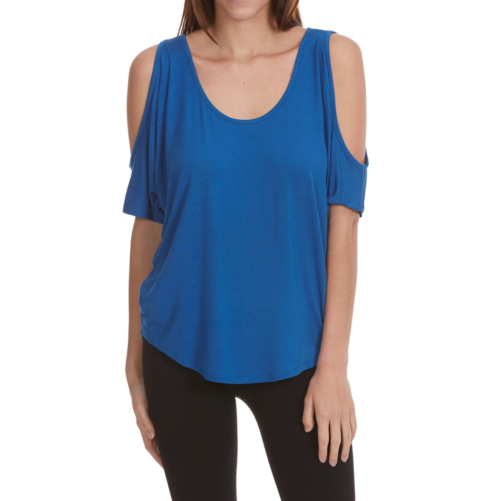 FEMME Women's Cold-Shoulder Short-Sleeve Tee - SNORKLE BLUE