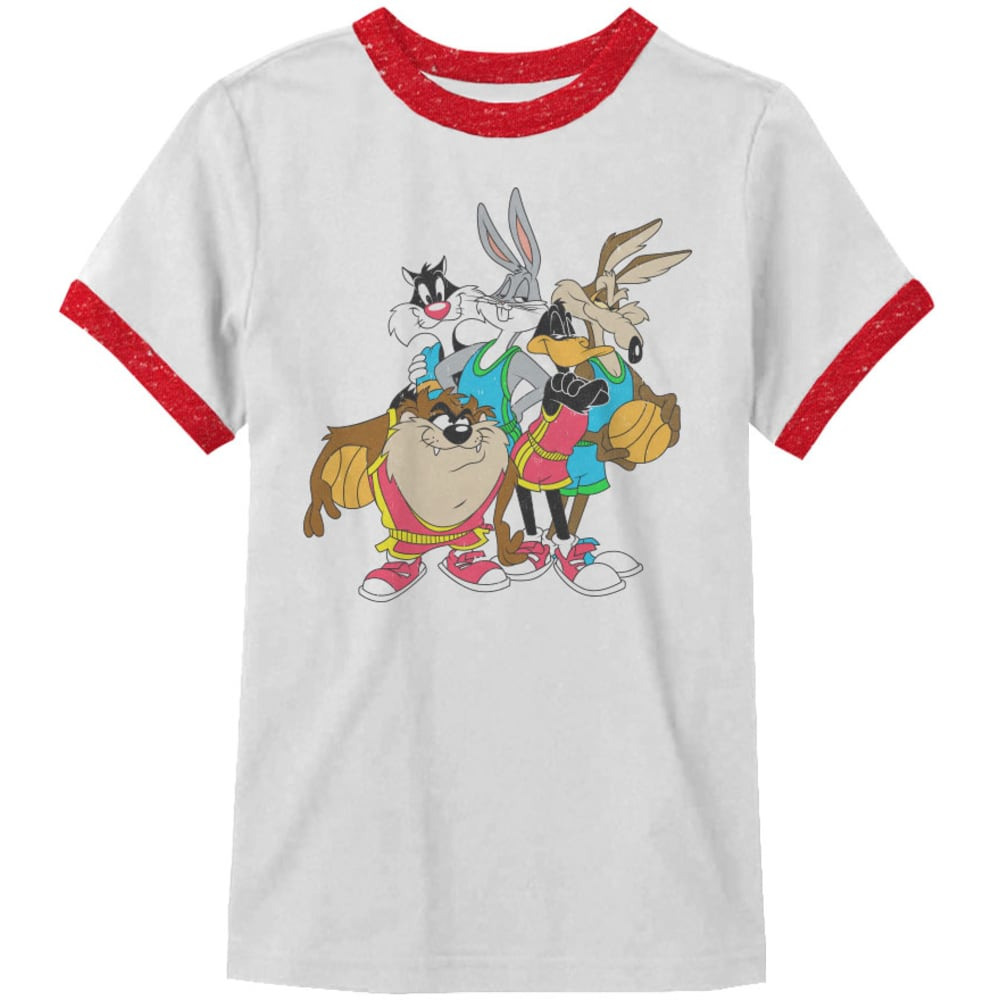 HYBRID Guys' The Crew Looney Tunes Tee - WHT/RED