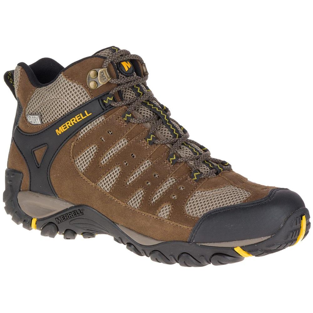 Merrell Men's Accentor Mid Ventilator Waterproof Hiking Boots, Stone/old Gold - Brown, 9