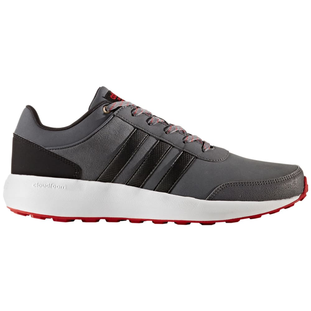 Adidas Men's Cloudfoam Race Running Shoes, Grey/black/scarlet