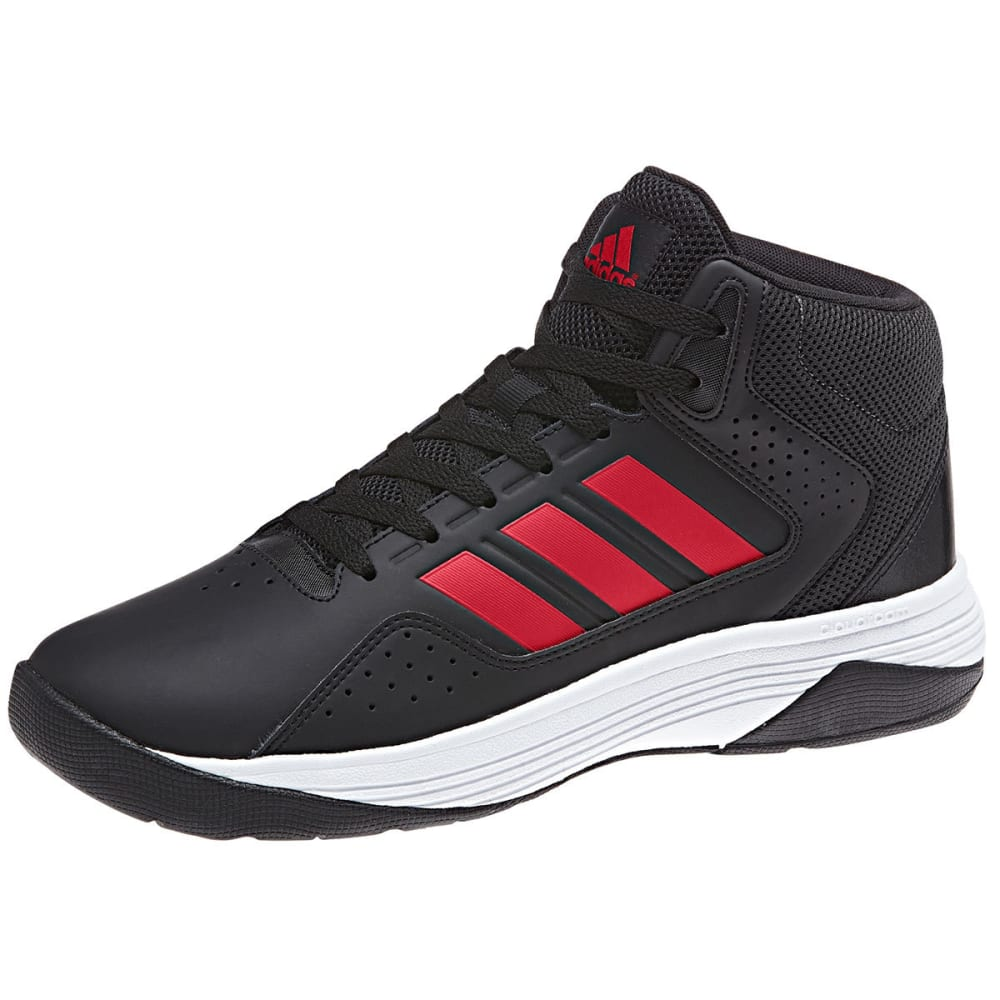 ADIDAS Men's Neo Cloudfoam Ilation Mid Basketball Shoes, Black/Scarlet - BLACK