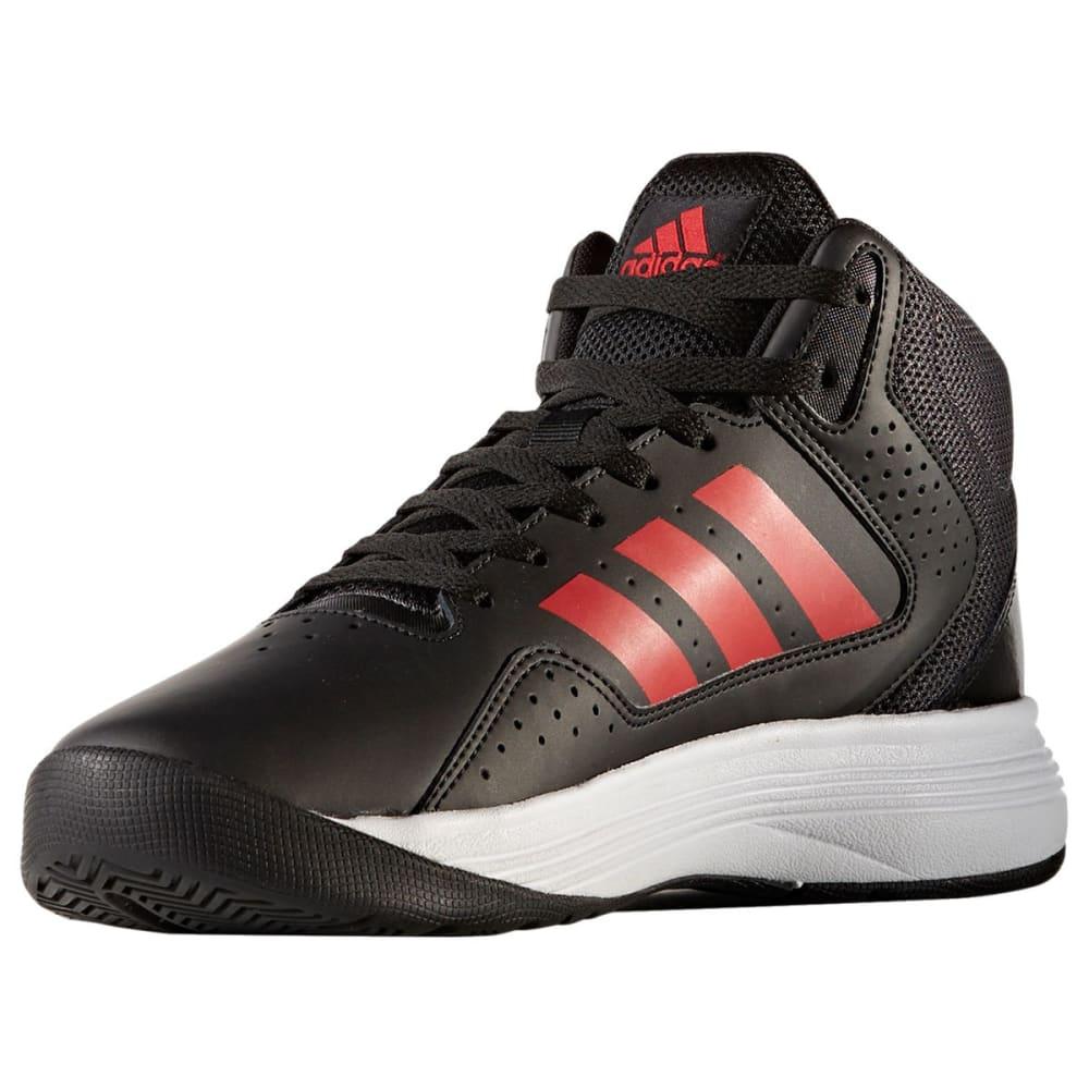 ADIDAS Men's Neo Cloudfoam Ilation Mid Basketball Shoes, Black/Scarlet - BLACK