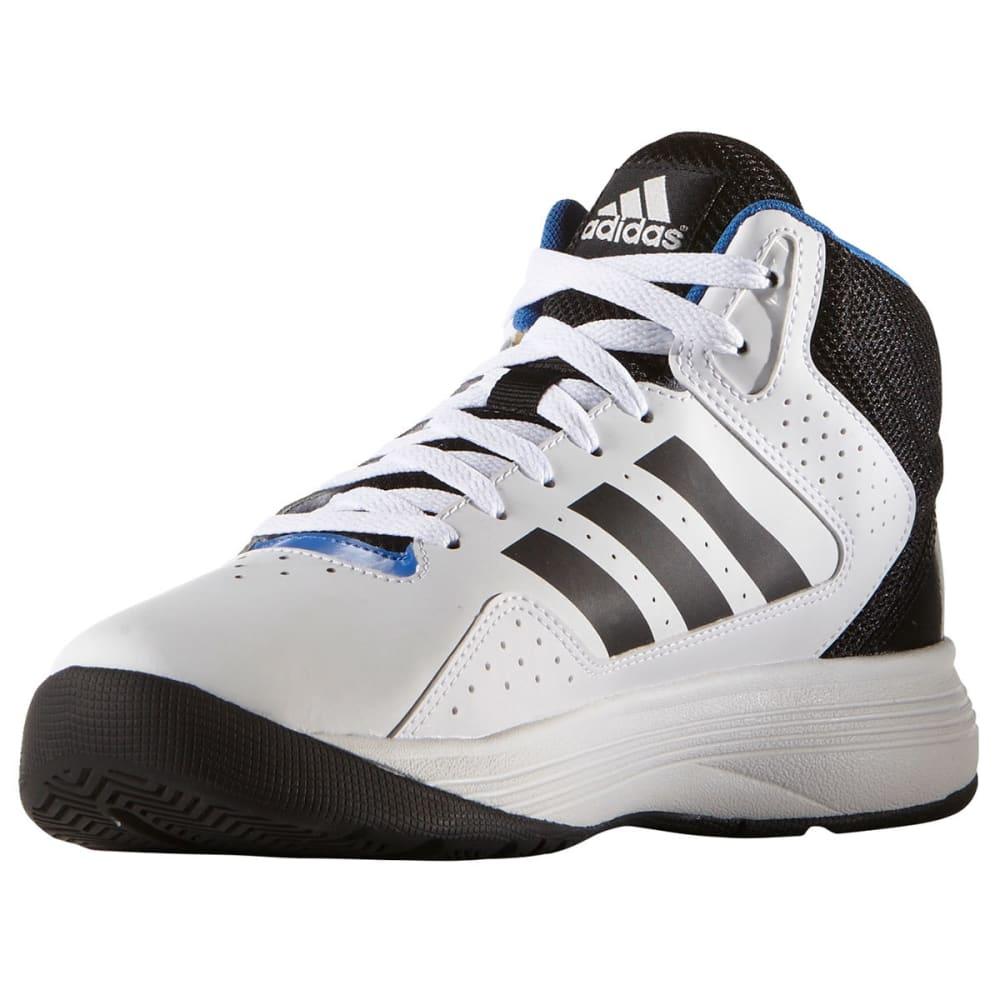 ADIDAS Men's Neo Cloudfoam Ilation Mid Basketball Shoes, White/Black/Silver - WHITE