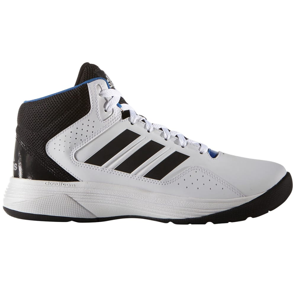 ADIDAS Men's Neo Cloudfoam Ilation Mid Basketball Shoes, White/Black/Silver - WHITE