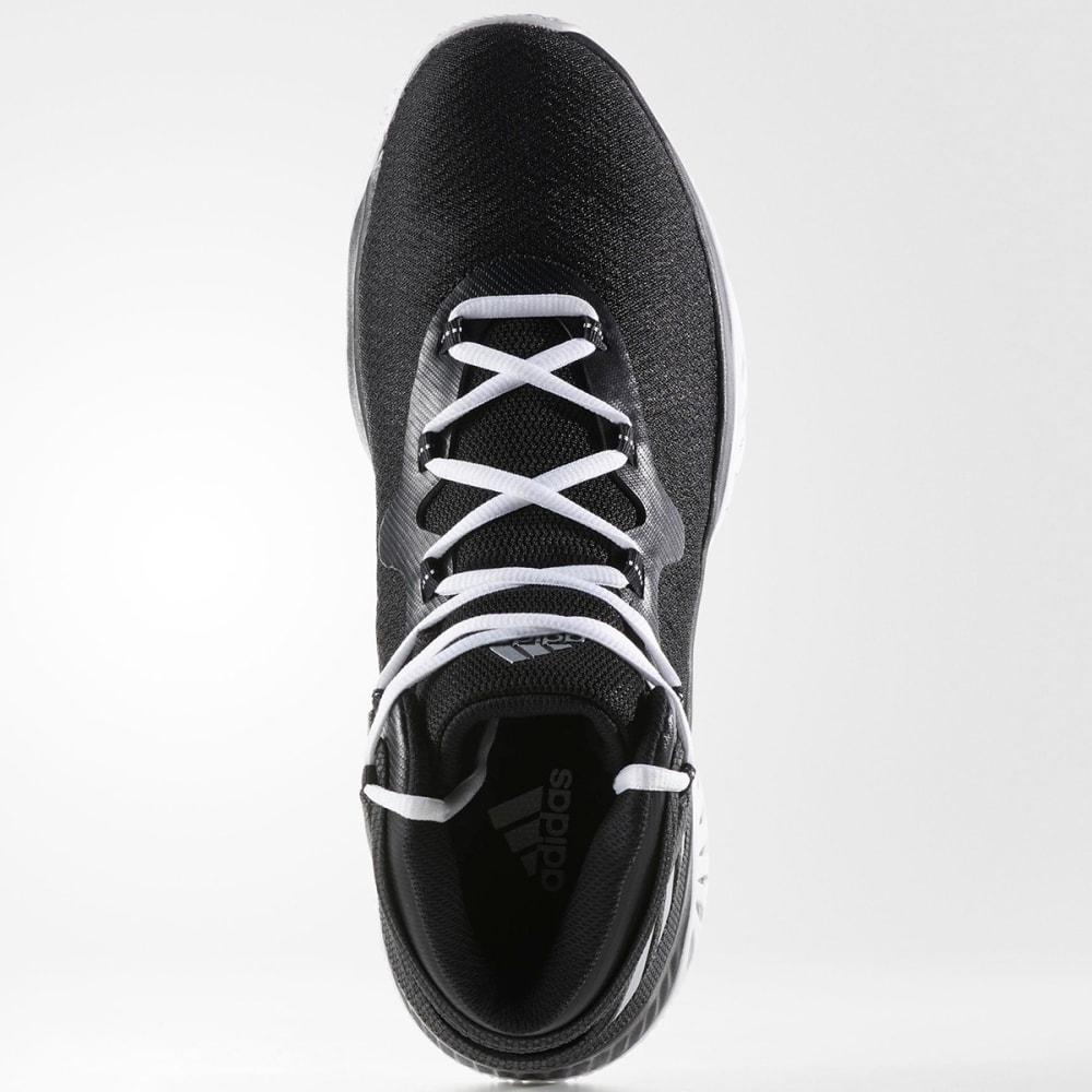ADIDAS Men's Explosive Bounce Basketball Shoes, Black/Silver/White - BLACK