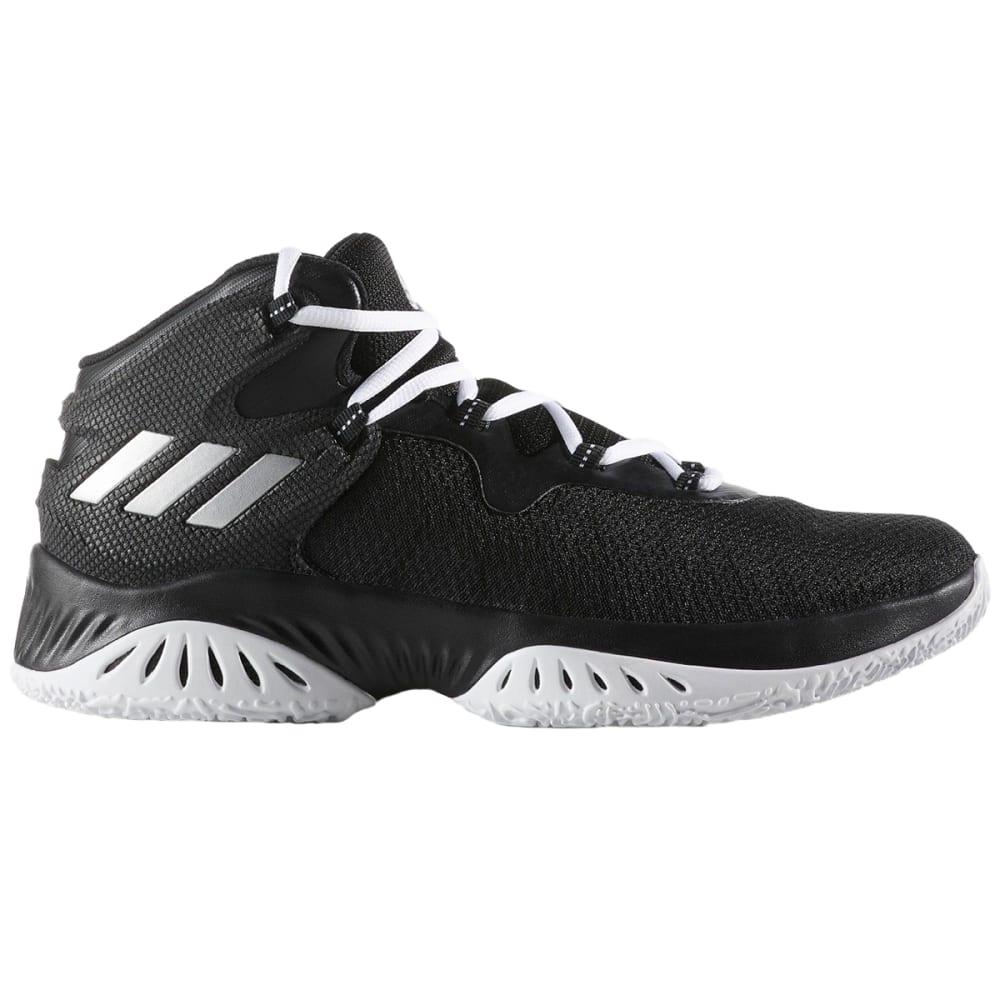 ADIDAS Men's Explosive Bounce Basketball Shoes, Black/Silver/White 7.5