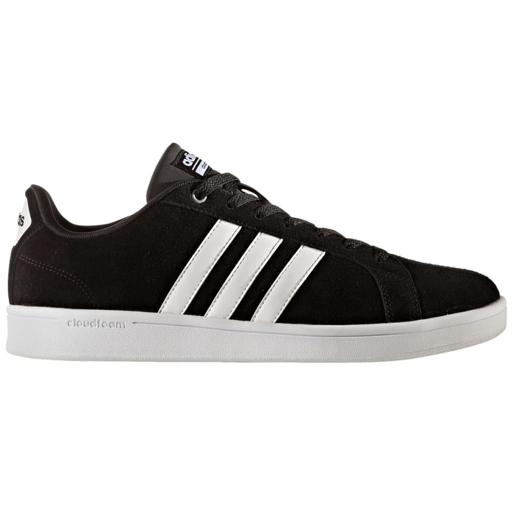 Adidas Men's Neo Cloudfoam Advantage Skate Shoes, Black/white/silver