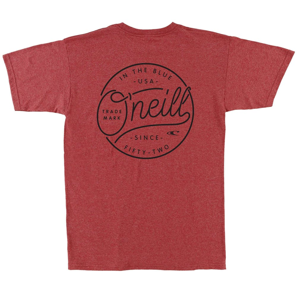O'NEILL Guys' Hooked Short-Sleeve Tee - RED/HEATHER-RDH