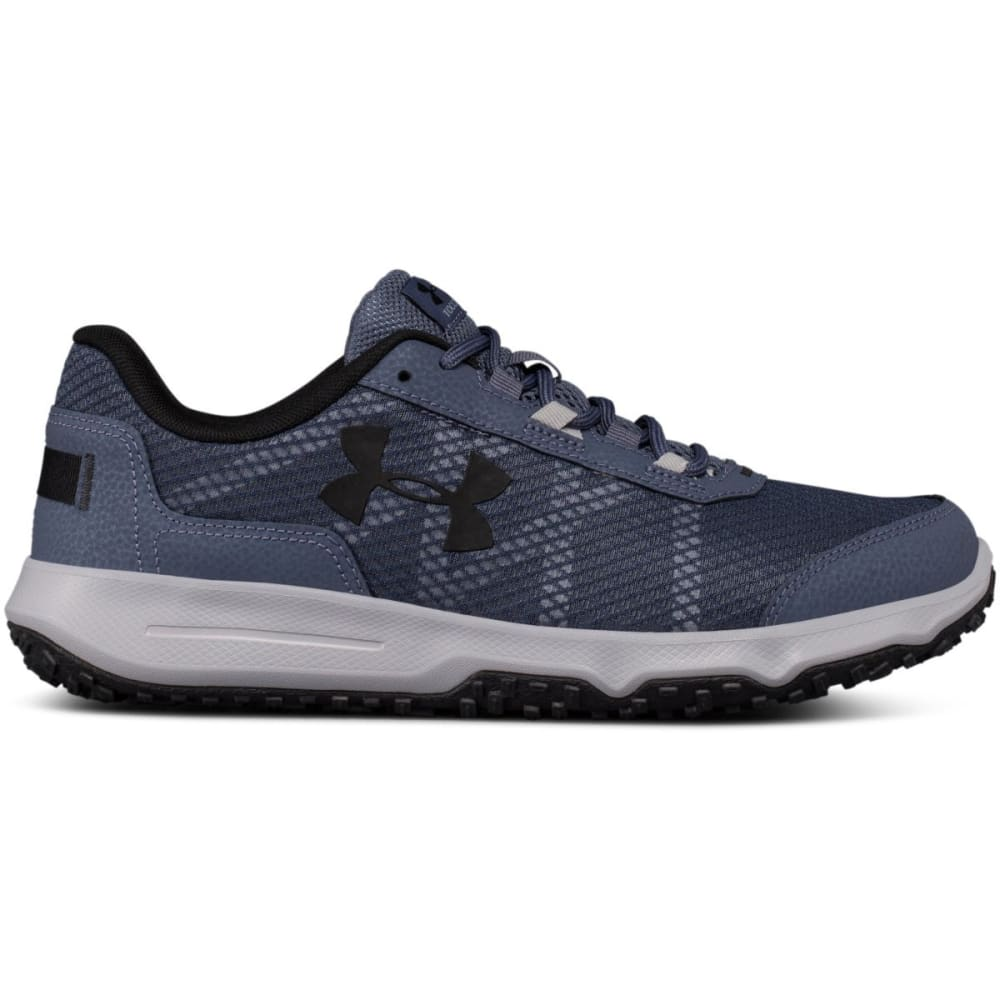 UNDER ARMOUR Men's UA Toccoa Trail Running Shoes, Apollo Grey/Overcast Grey/Black - GREY