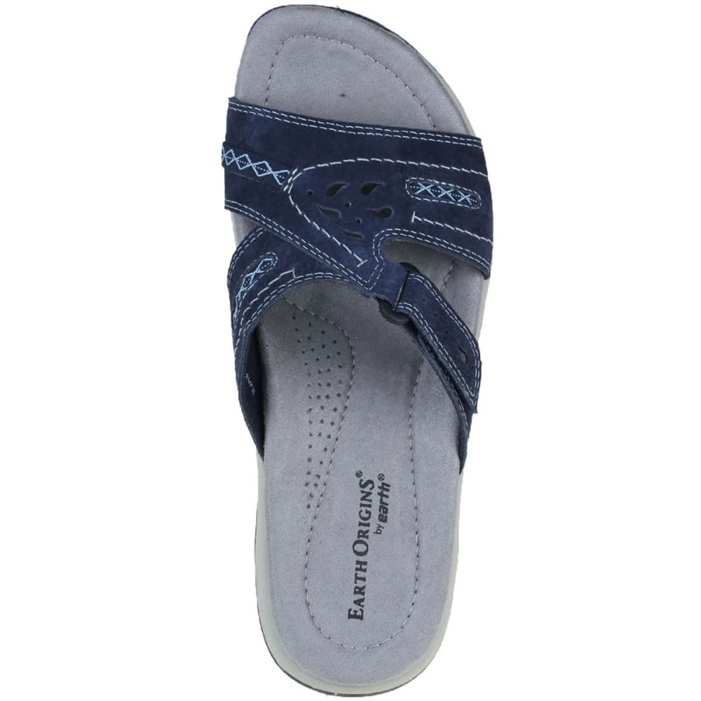 EARTH ORIGINS Women's Sizzle Slide Sandals, Navy - NAVY