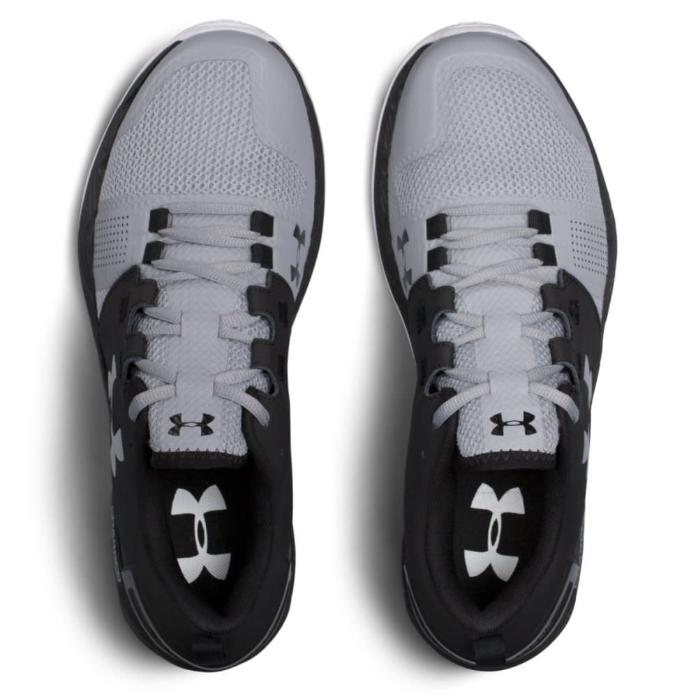 UNDER ARMOUR Men's UA Commit Cross Training Shoes, Black/Steel/Metallic Silver - BLACK