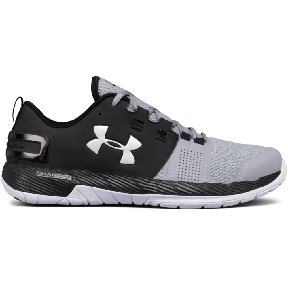 UNDER ARMOUR Men's UA Commit Cross Training Shoes, Black/Steel/Metallic Silver - BLACK