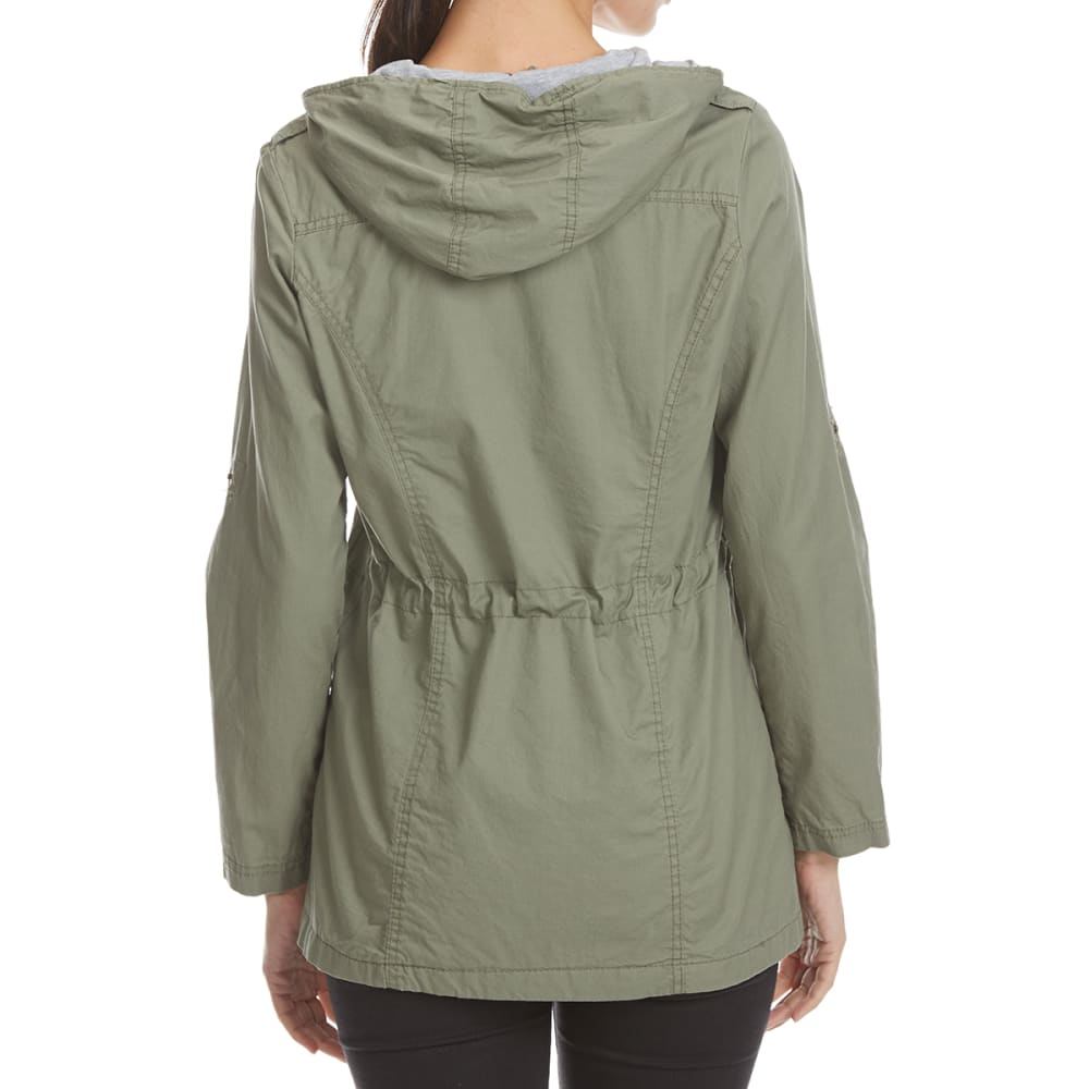 YMI Juniors' Twill Anorak Jacket - OLIVE