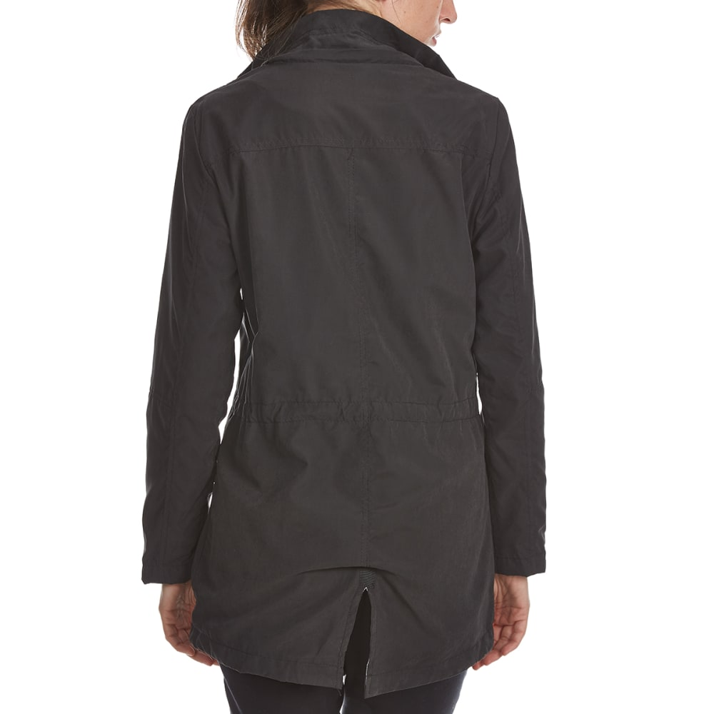 YMI Juniors' Twill Anorak Jacket - BLACK