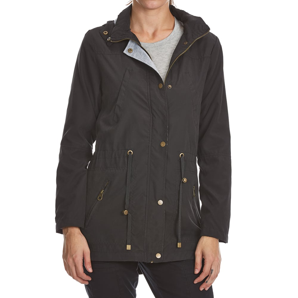 YMI Juniors' Twill Anorak Jacket - BLACK