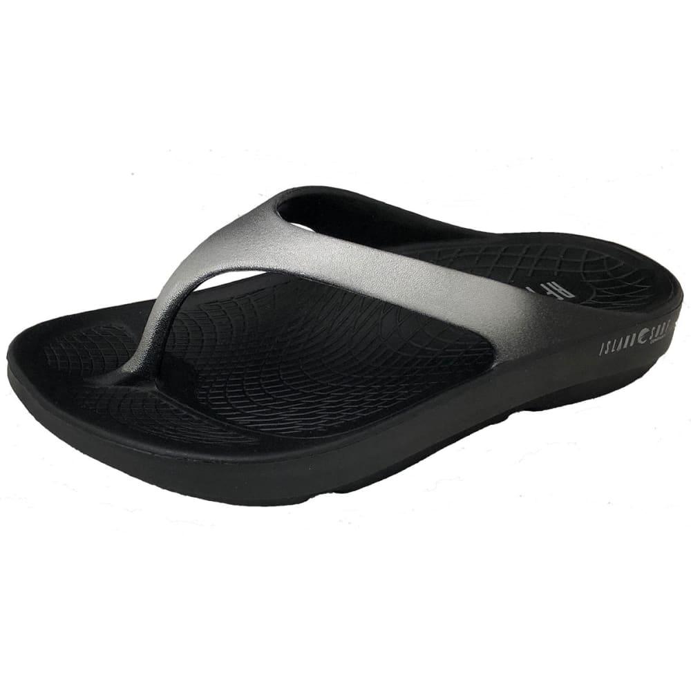 ISLAND SURF Unisex Wave Sandals - BLACK/SILV