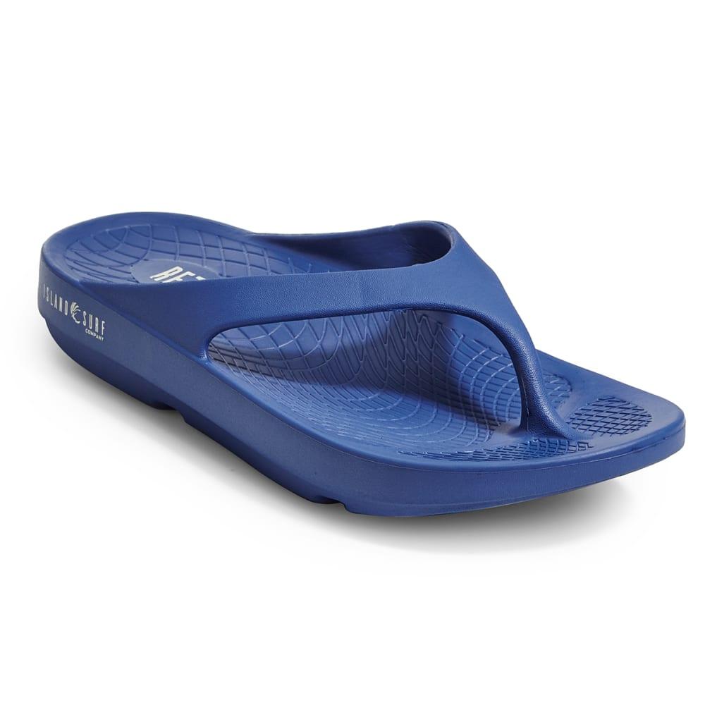 ISLAND SURF Unisex Wave Sandals, Navy - NAVY