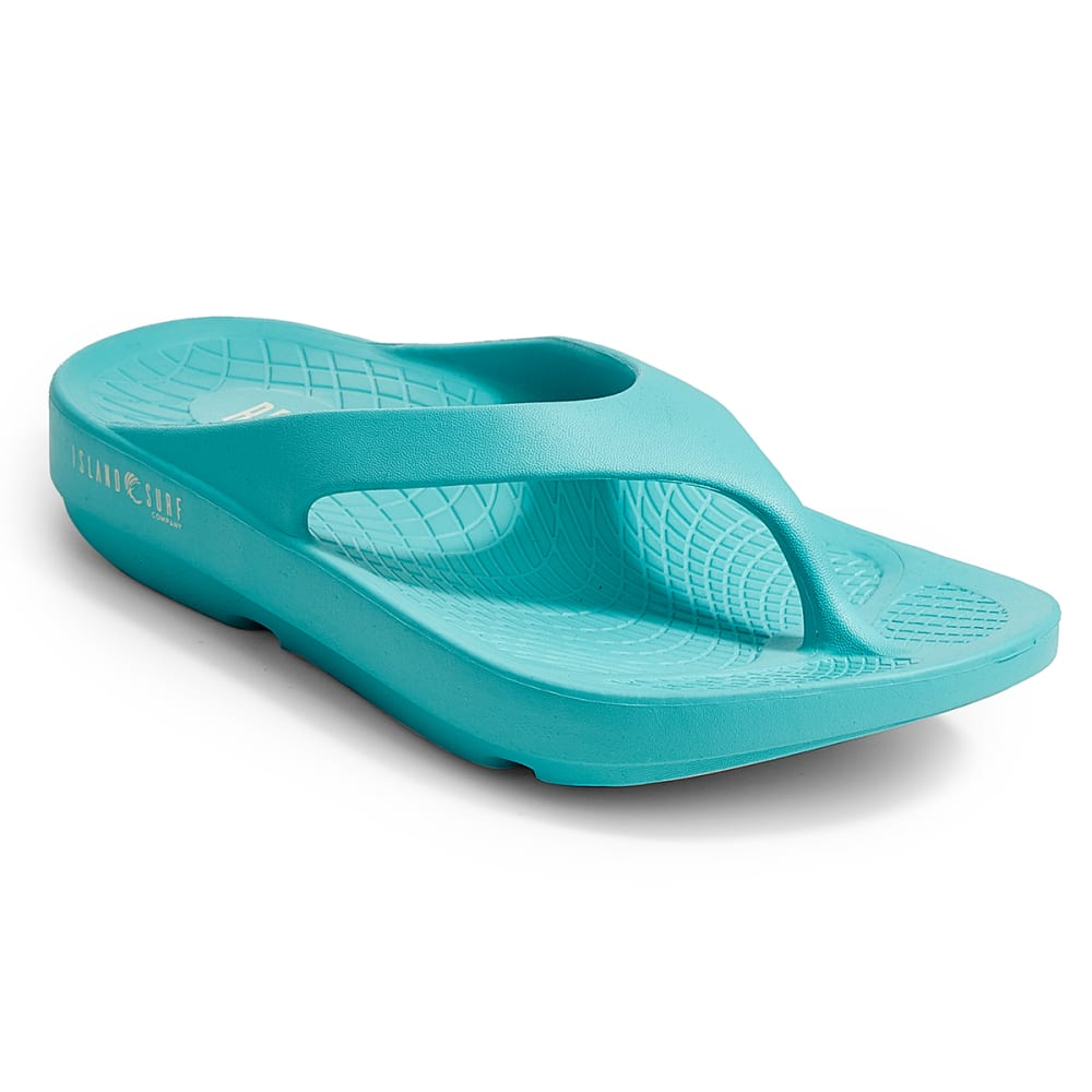 ISLAND SURF Women's Wave Sandals, Teal - TEAL
