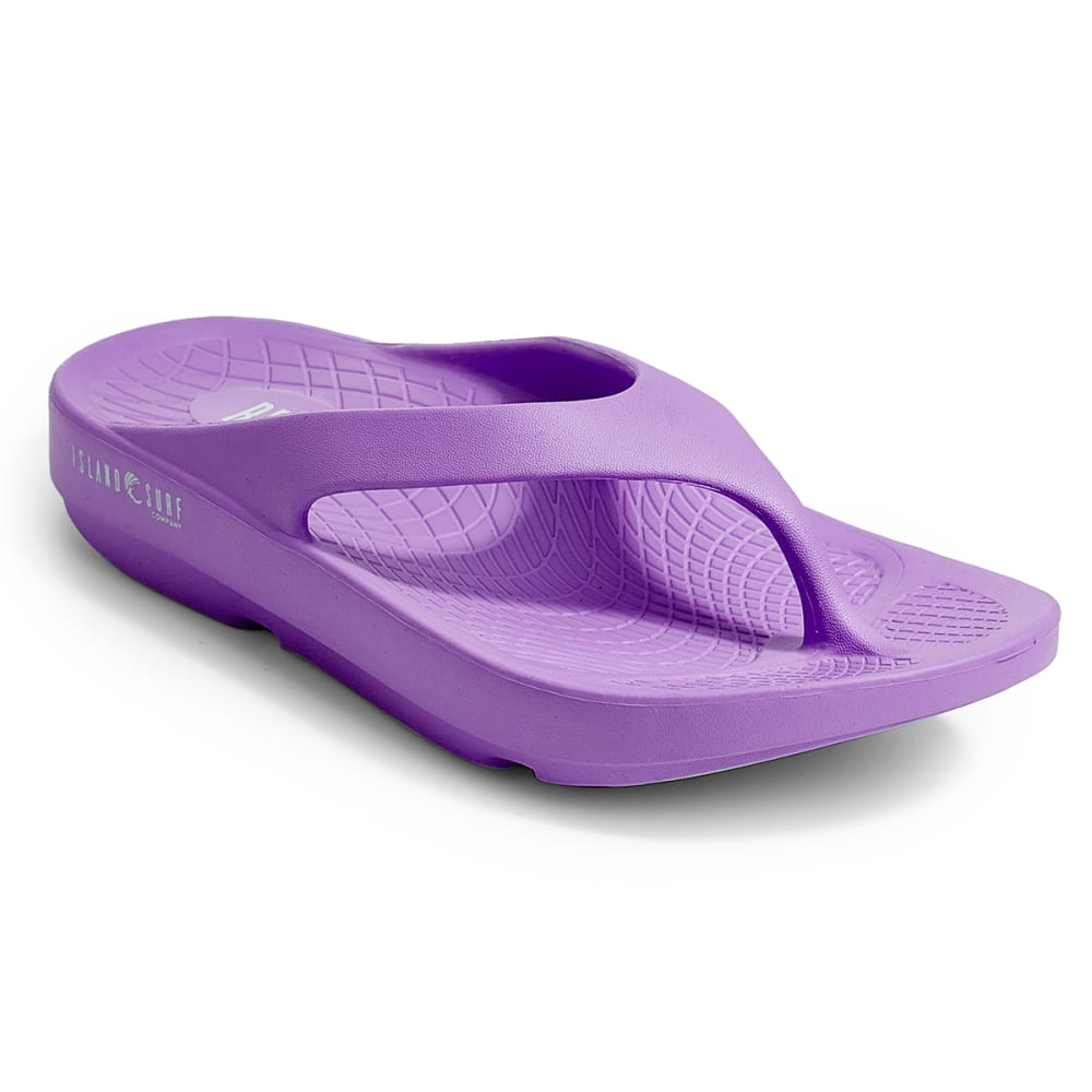 ISLAND SURF Women's Wave Sandals, Purple - PURPLE