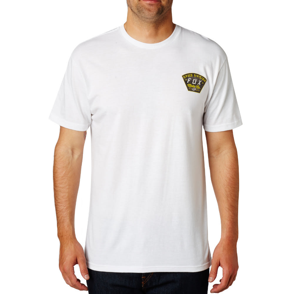 FOX Men's Seek and Construct T-Shirt - WHITE/OPTIC-190