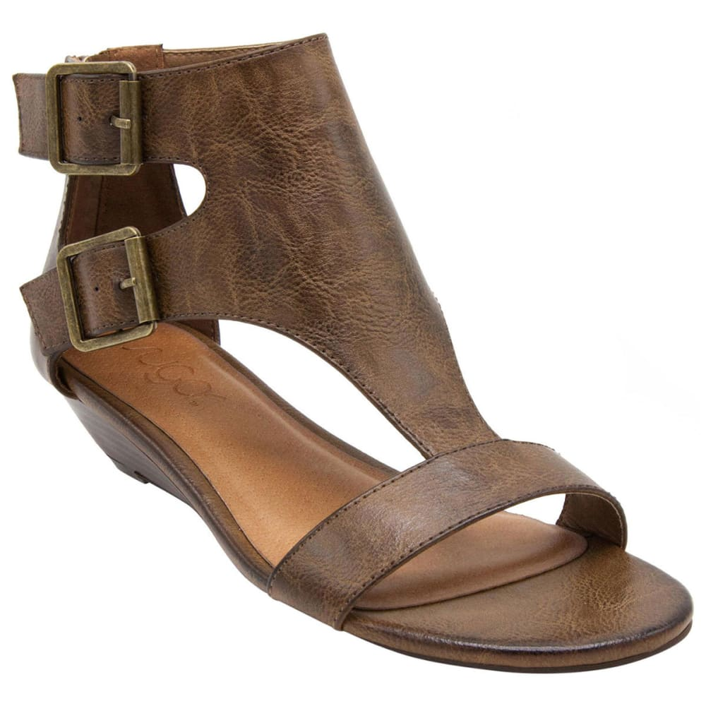 SUGAR Women's Wigout Wedge Sandals, Burnished Brown - BURNISHED BROWN
