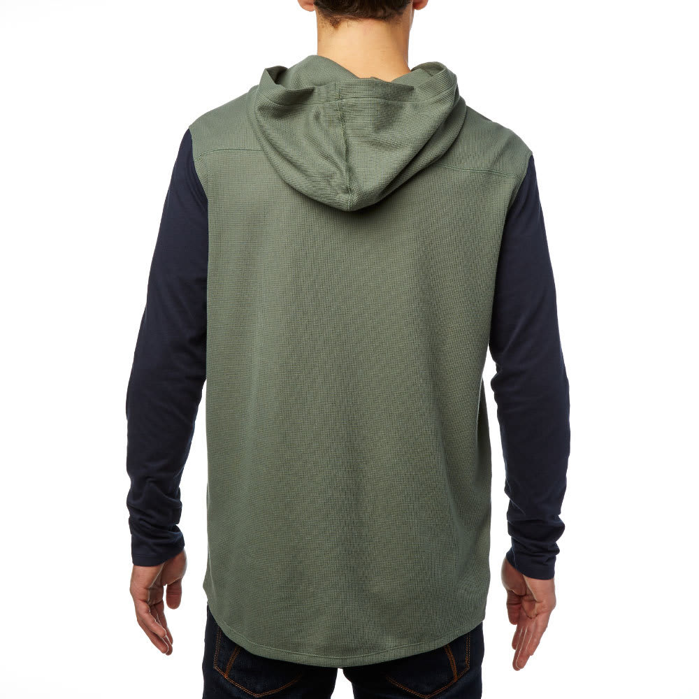FOX Guys' Tranzit Hooded Thermal Knit Shirt - GREY/DRK FATIGUE-161