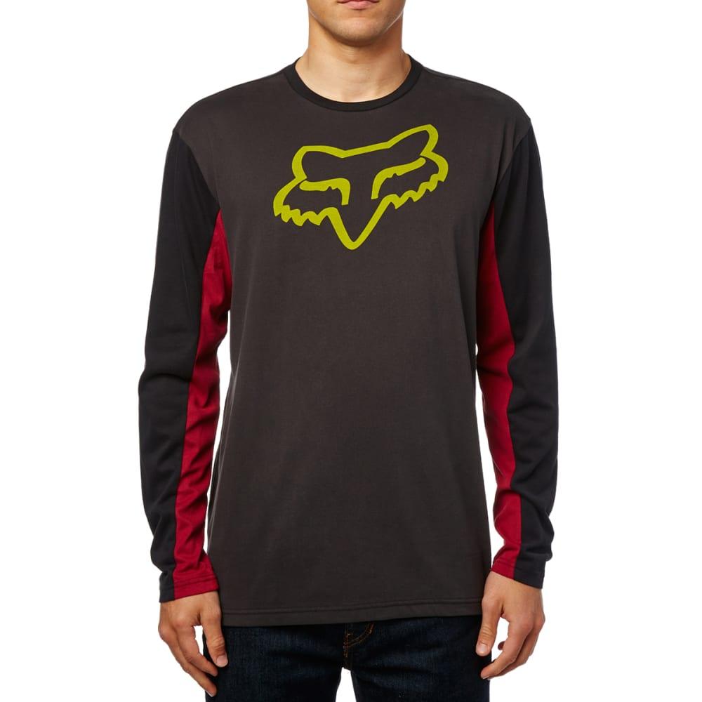 FOX RACING Guys' Tracker Airline Long-Sleeve Tee - DRKGRY/VINTGBLK-587