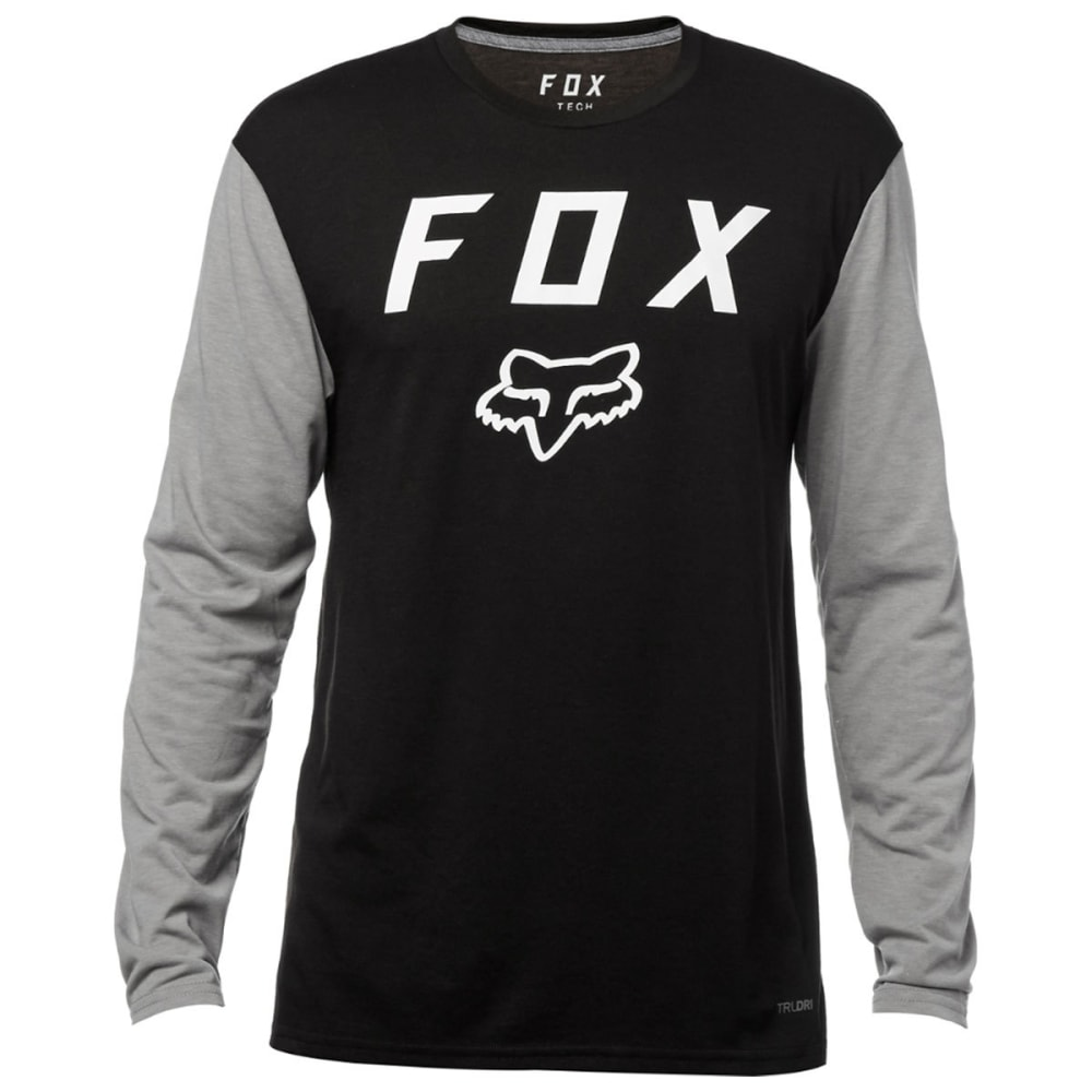 FOX RACING Guys' Contended Tech Long-Sleeve Tee - BLACK-001