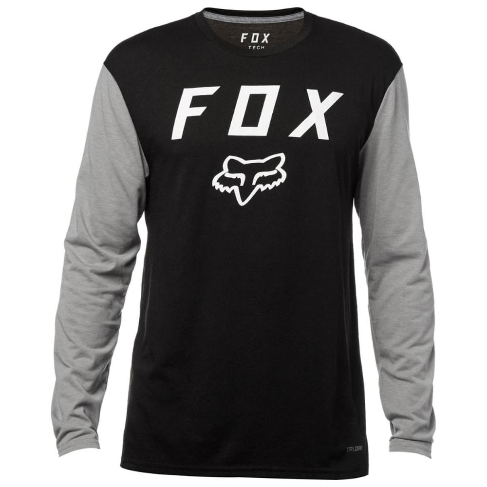 FOX RACING Guys' Contended Tech Long-Sleeve Tee - BLACK-001