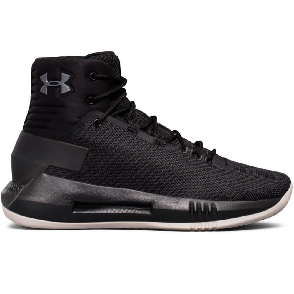 UNDER ARMOUR Big Boys' Grade School UA Drive 4 Basketball Shoes, Black/Gunmetal - BLACK