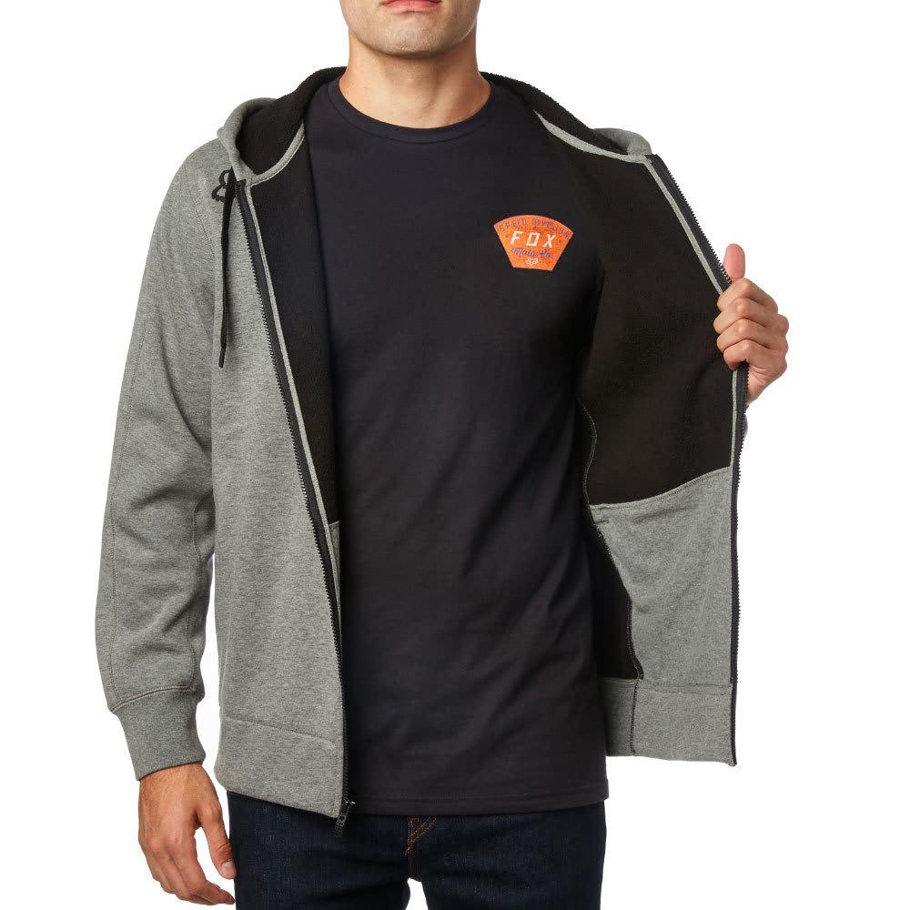 FOX RACING Guys' Reformed Sherpa Full-Zip Hoodie - GRY/HETHR GRAPHT-185